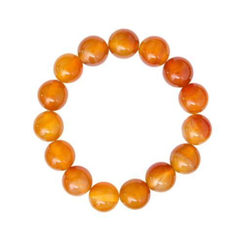 Carnelian Bracelet - 12 mm Bead