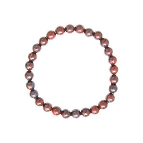 Brecciated Jasper Bracelet - 6 mm Bead