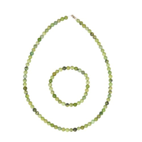 Lemon Chrysoprase Gift Set - 6 mm Bead