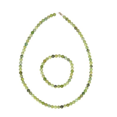 Lemon Chrysoprase Gift Set - 6 mm Bead