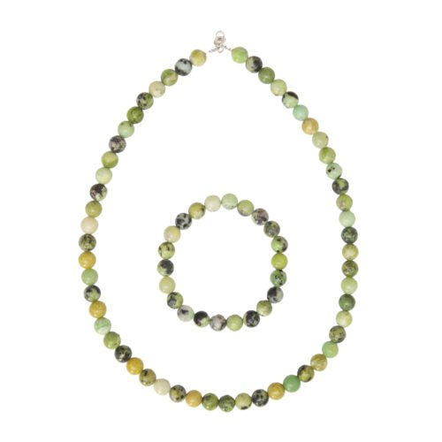 Lemon Chrysoprase Gift Set - 8 mm Bead