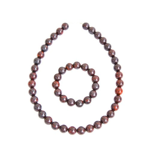 Brecciated Jasper Gift Set - 12 mm Bead