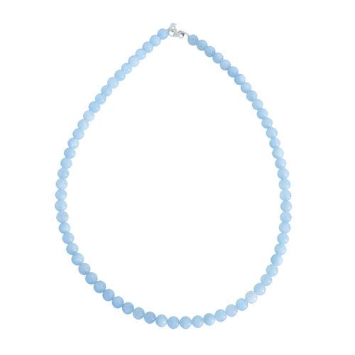 Aquamarine Necklace - 6 mm Bead