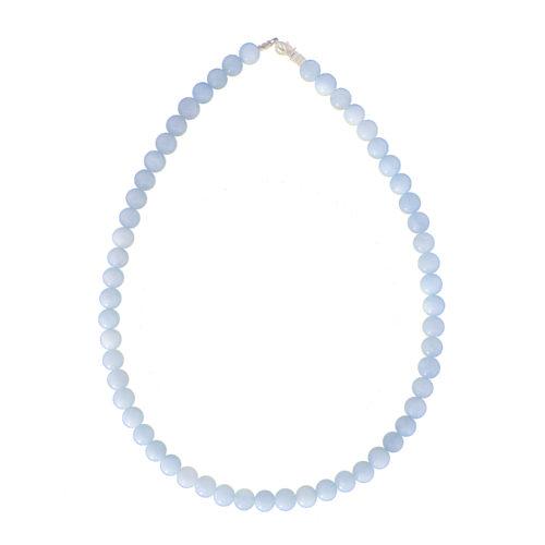 Aquamarine Necklace - 8 mm Bead