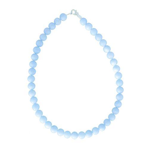 Aquamarine Necklace - 10 mm Bead