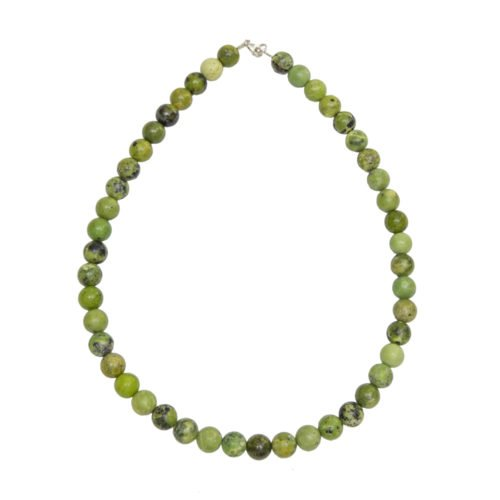 Lemon Chrysoprase Necklace - 10 mm Bead