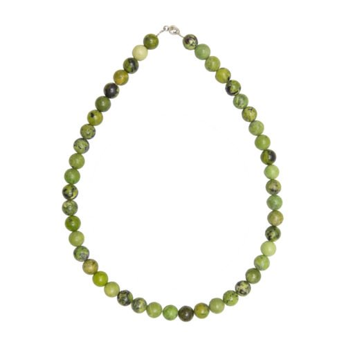 Lemon Chrysoprase Necklace - 10 mm Bead