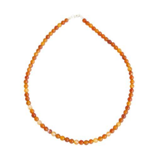 Carnelian Necklace - 6 mm Bead