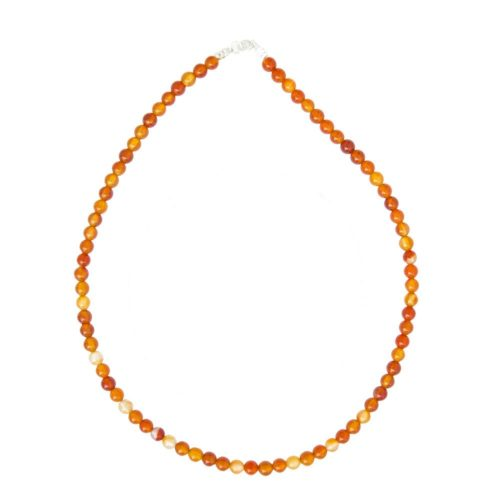 Carnelian Necklace - 6 mm Bead