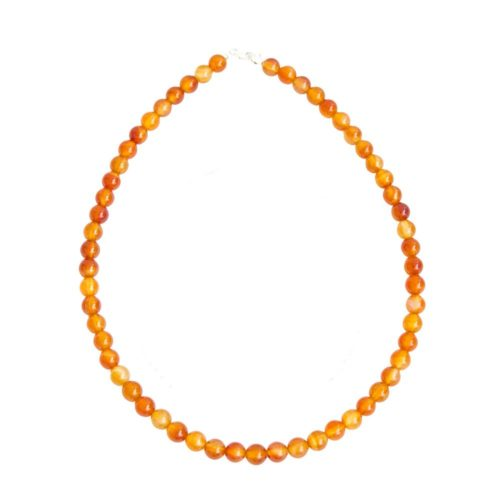Carnelian Necklace - 8 mm Bead