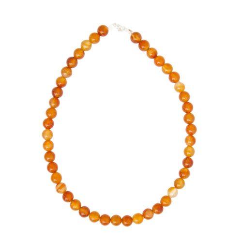 Carnelian Necklace - 10 mm Bead