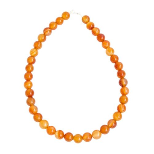 Carnelian Necklace - 12 mm Bead