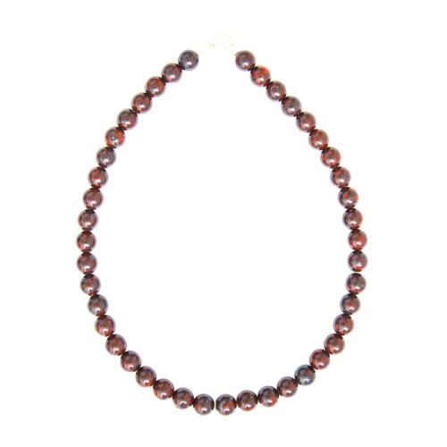 Brecciated Jasper Necklace - 10 mm Bead