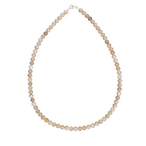 Sunstone Necklace - 6 mm Bead