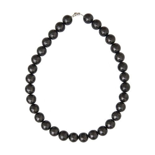 Shungite Necklace - 14 mm Bead