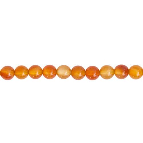 Carnelian Line - 8 mm Bead