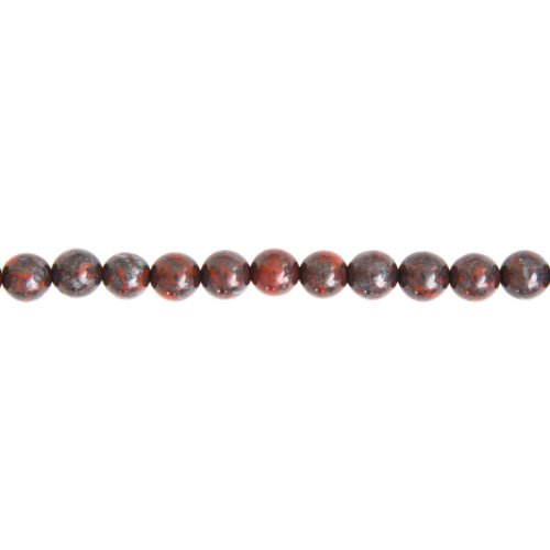 Brecciated Jasper Line - 6 mm Bead