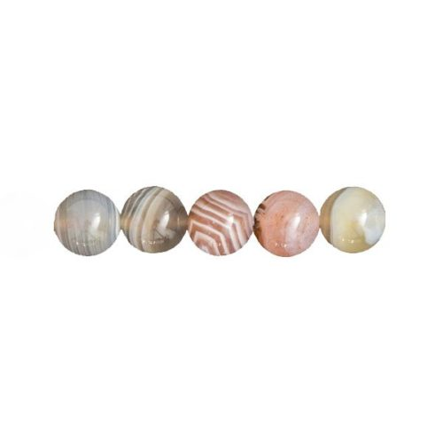 perles agate du botswana 12mm