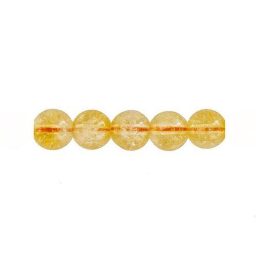 perle ronde citrine 6mm