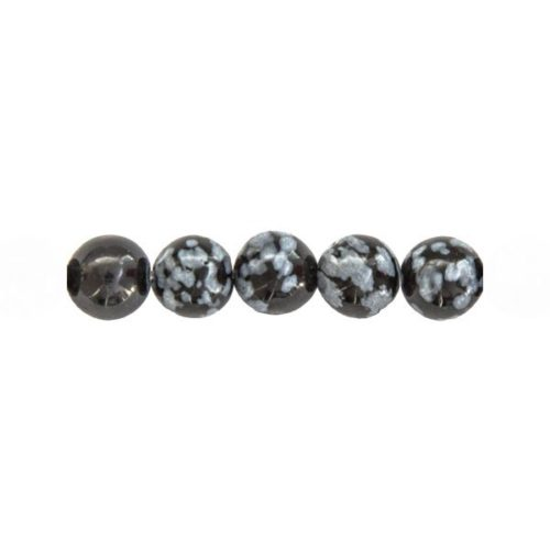 perles obsidienne flocon de neige
