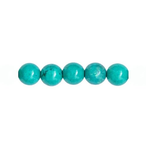perles turquoise 12mm