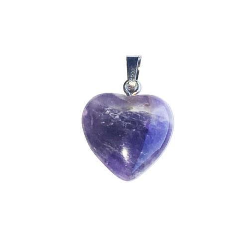 Amethyst Pendant - Small Heart