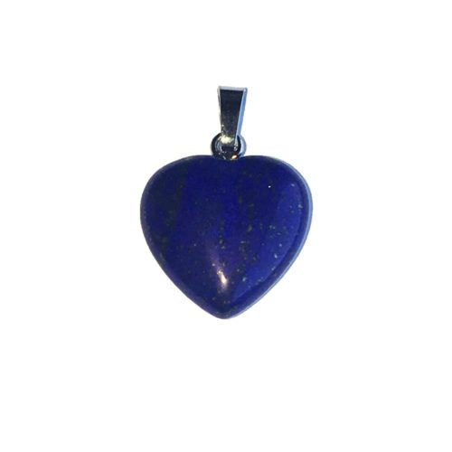 Lapis Lazuli Pendant - Small Heart