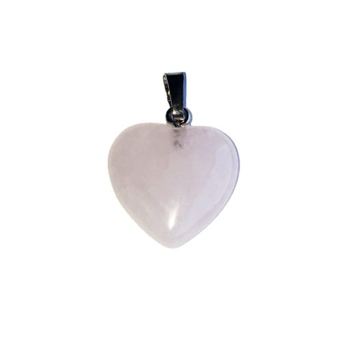 Pink Quartz Pendant - Small Heart