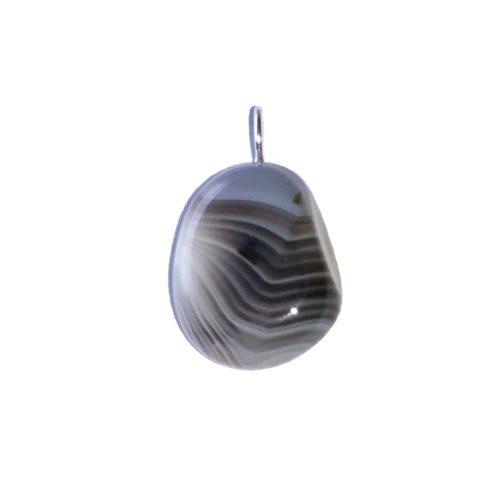 pendentif agate botswana pierre roulee