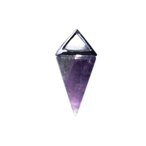 pendentif améthyste pyramide argent