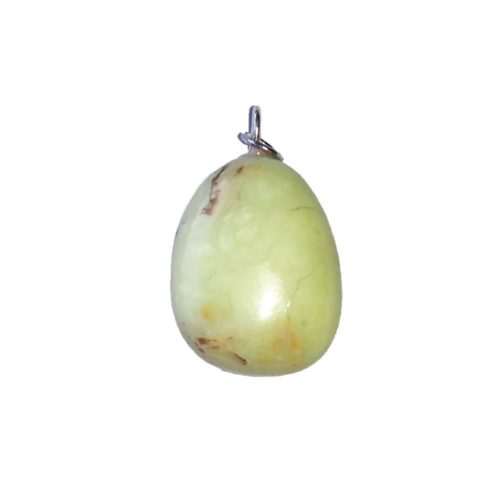 pendentif chrysoprase citron pierre roulée