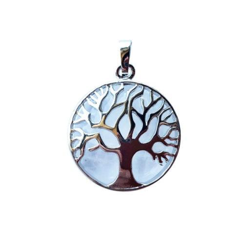 Rock Crystal Pendant - Tree of Life