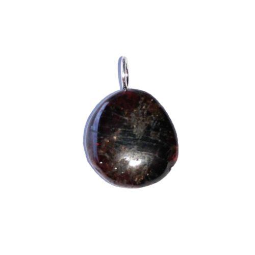 Red Garnet Pendant - Tumbled Stone