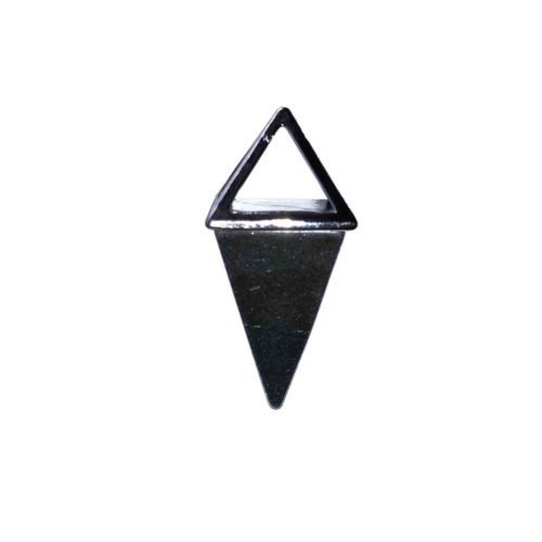 pendentif hématite pyramide argent