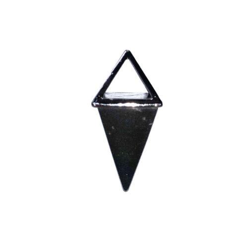 Haematite Pendant - Silver Pyramid