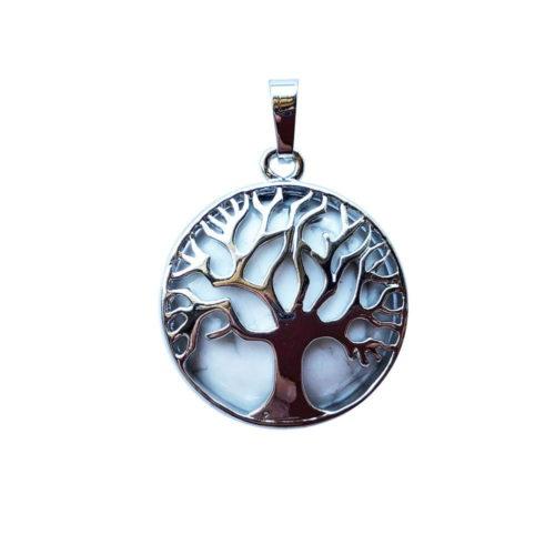Howlite Pendant - Tree of Life