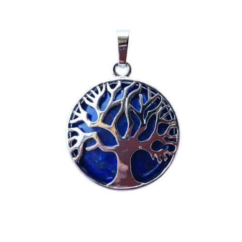 Lapis Lazuli Pendant - Tree of Life