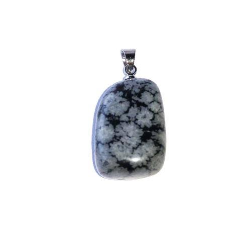Snowflake Obsidian Pendant - Tumbled Stone