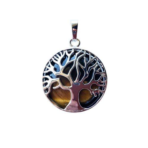 pendentif oeil de tigre arbre de vie