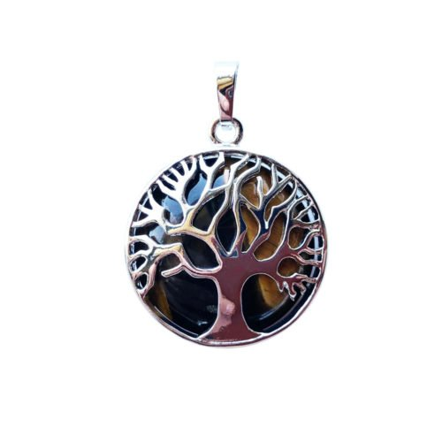 Tiger's Eye Pendant - Tree of Life