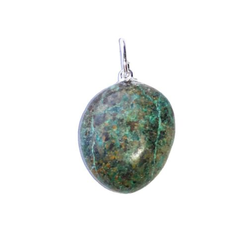 African Turquoise Pendant - Tumbled Stone