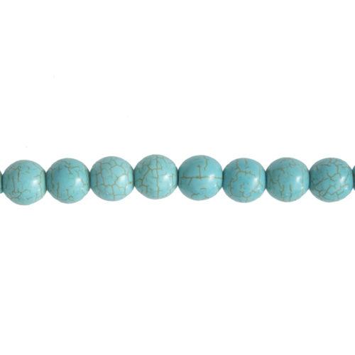 Blue Howlite Line - 12 mm Bead