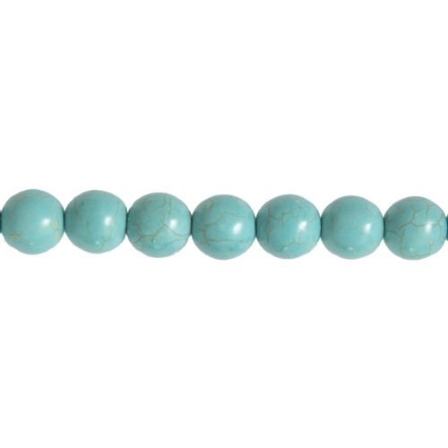 Blue Howlite Line - 14 mm Bead