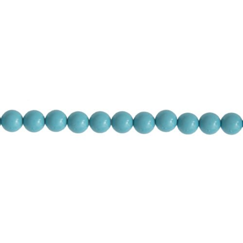 Blue Howlite Line - 6 mm Bead