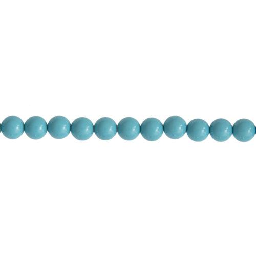 Blue Howlite Line - 6 mm Bead