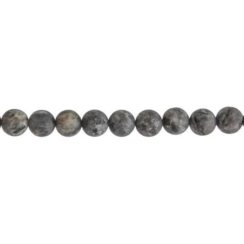 Larvikite Line - 10 mm Bead