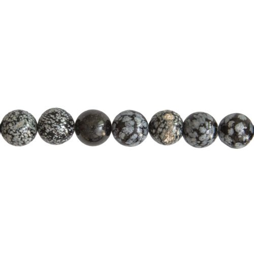 Snowflake Obsidian Line - 14 mm Bead