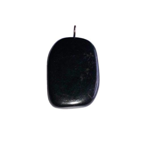 pendentif shungite pierre plate