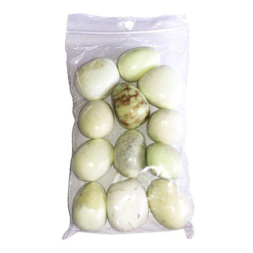 Lemon Chrysoprase Tumbled Stone - 250 g