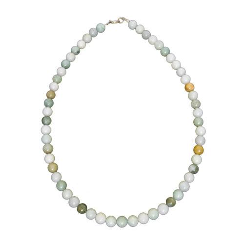 Burmese Jade Necklace - 8 mm Bead